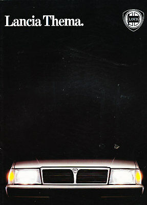 1985 Lancia Thema 24-page Original German Prospekt Sales Brochure