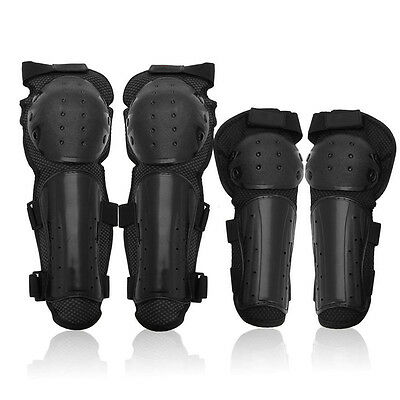 4Pcs Knee Motorcycle Knee Protector Brace Support Protection Elbow Pad Kneepad