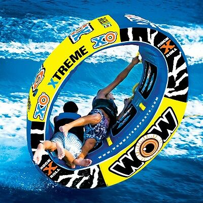 Wow XO Extreme 3 Person Towable WaterSki Tube Inflatable Biscuit Boat Ride
