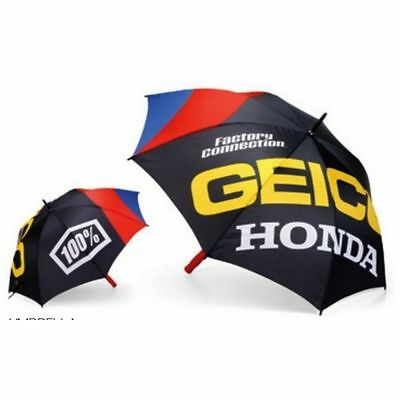 Geico Team Honda Racing 100% Regenschirm Grid Umbrella Rot Weiss Crf Cr 125 250