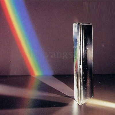 "3"" Triangular Prism Optical Spectrum Glass for Photography Physics Teaching"