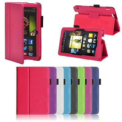 Smart Leather Folio Stand Cover Case For Amazon Kindle Fire HDX 7 Inch(2012)