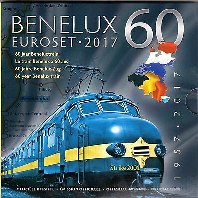 NEW !!! Euro BENELUX 2017 in Folder Ufficiale NEW !!!