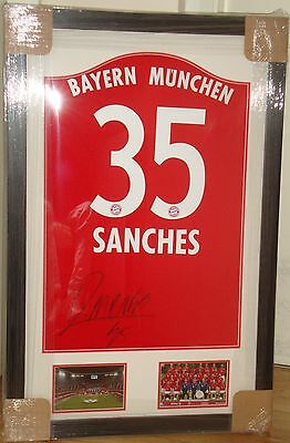 Framed Renato Sanches Name & Number Signed Bayern Munich Home Shirt