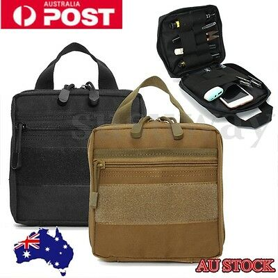 Tactical Molle First Aid Medic Kit Pouch Organizer Utility Bag Pouch Backpack AU