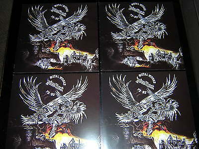 "4 Judas Priest Promotional 12""x12"" Cards - Metal Works"