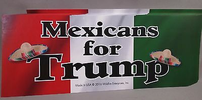 Wholesale Lot Of 20 Mexicans For Trump Stickers Latino Hispanic President 2016