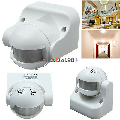 White Outdoor 180° Degree Security PIR Motion Movement Sensor Detector Switch