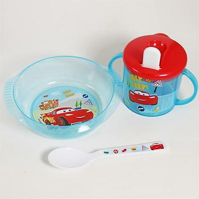 Baby 3 Piece Feeding Set - Bowl, Spoon & Sippy Cup - Disney Cars