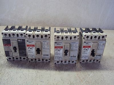 Westinghouse Cutler Hammer Fd3015 Circuit Breaker 15 Amp  Lot Of 4  Used