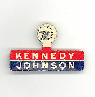 "* Great  ~  "" KENNEDY - JOHNSON ""  ~  1960 Campaign Tab"