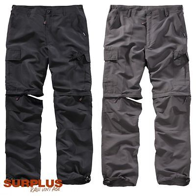 SURPLUS Pantaloni Bermuda uomo 2 in 1 trekking caccia pesca outdoor QuickDry