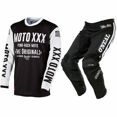 Oneal Motocross Mx Fasthouse Race Jersey Hose Pant Combo 32/m Retro Xxx Schwarz