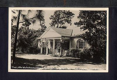 FDR 1950 LITTLE WHITE HOUSE Warm Springs Foundation GA Real Photo Postcard RPPC