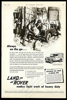 1955 Land-Rover SUV Always On The Go vintage print ad