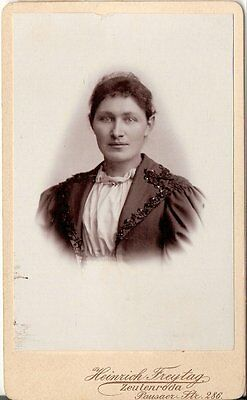 CDV photo Damenportrait mit Widmung - Zeulenroda 1896