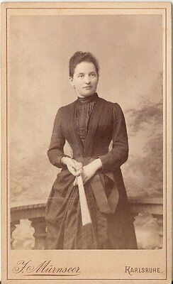 CDV photo Feine Dame - Karlsruhe 1880er