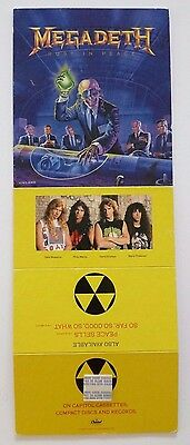 MEGADETH UNUSED 1990 STORE COUNTER DISPLAY PROMO for RUST IN PEACE LP CD