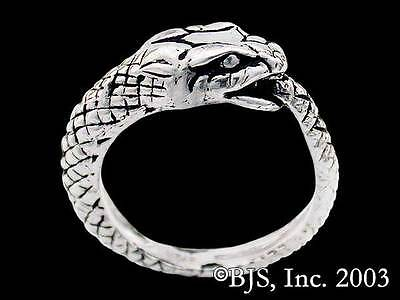 Sterling Silver Ouroboros Ring, Snake Eating Its Tail Ring, Jörmungandr Ring