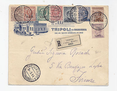U119-Tripoli Barbary Falcon-Envelope With Cope. Stamp Collection