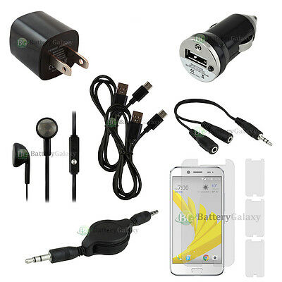 10pc NEW 2X USB Type C Cable+Car/Wall Charger+Headset for Android Phone HTC Bolt