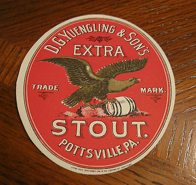 Pre-Prohibition Yuengling Extra Stout Beer Bottle Label Pottsville Pa  Pre-Pro