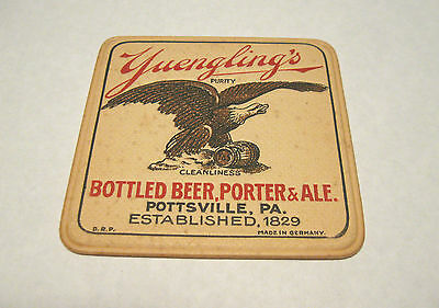 "Pre-Prohibition Yuengling Beer 4"" Inch Coaster  Pottsville Pa  Pre-Pro"