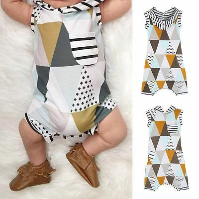 Newborn Baby Girls Boys Hoodie Jumpsuit Romper Pajamas Suit Clothes Outfits