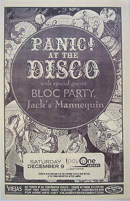 Panic! At The Disco/ Bloc Party /jack's Mannequin 2006 San Diego Concert Poster