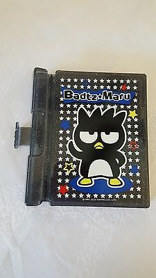 Sanrio Badtz Maru Plastic Case with Pencil and Blank Book