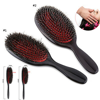 Anti-static Hair Extension Brush Nylon Boar Bristle Oval Cushion Massage Brush d