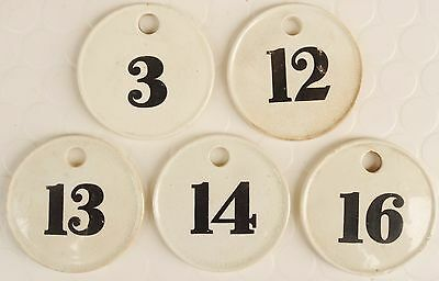 5 x mid C19th Minton pottery large wine bin cellar rack labels numbers tags