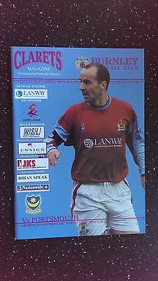 Burnley V Portsmouth 2001-02
