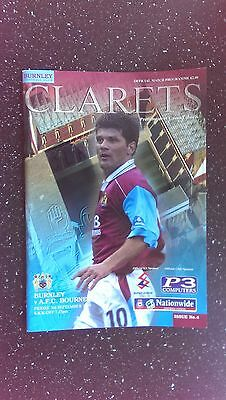 Burnley V Bournemouth 1999-00