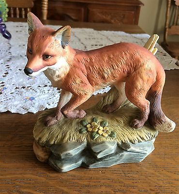 Andrea By Sadek Porcelain Red Fox Figurine #5618