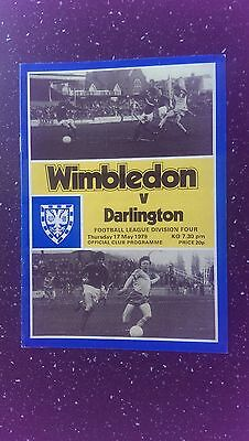 Wimbledon V Darlington 1978-79