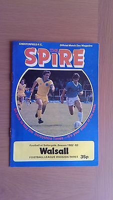 Chesterfield V Walsall 1982-83