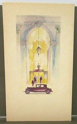 Late 1920's or Early 1930's Cadillac Dealer Brochure La Salle Agleam Themed