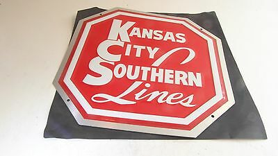 ++ IT08 Microscale Kansas City Sou. KCS Metallemblem 20cm Die-Cut Metal Sign NEU