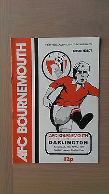 Bournemouth V Darlington 1976-77