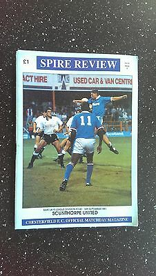 Chesterfield V Scunthorpe United 1991-92.