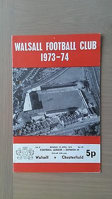 Walsall V Chesterfield 1973-74