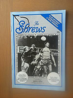Shrewsbury Town V Hull City 1986-87