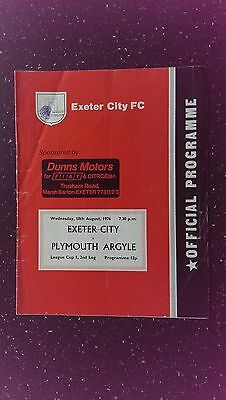 Exeter City V Plymouth Argyle 1976-77.