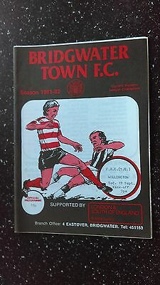 Bridgwater Town V Wellington 1981-82