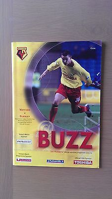 Watford V Burnley 2001-02