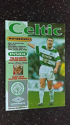 Celtic V Motherwell 1994-95