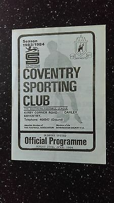 Coventry Club Sporting V Oldbury United 1983-84