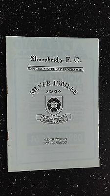 Sheepbridge V Sheffield & Hallam University 1995-96