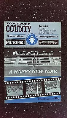 Stockport County V Rochdale 1985-86